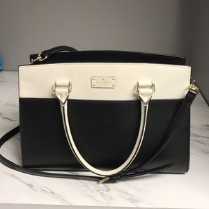 Kate Spade Black And White Large Cross Body Bag